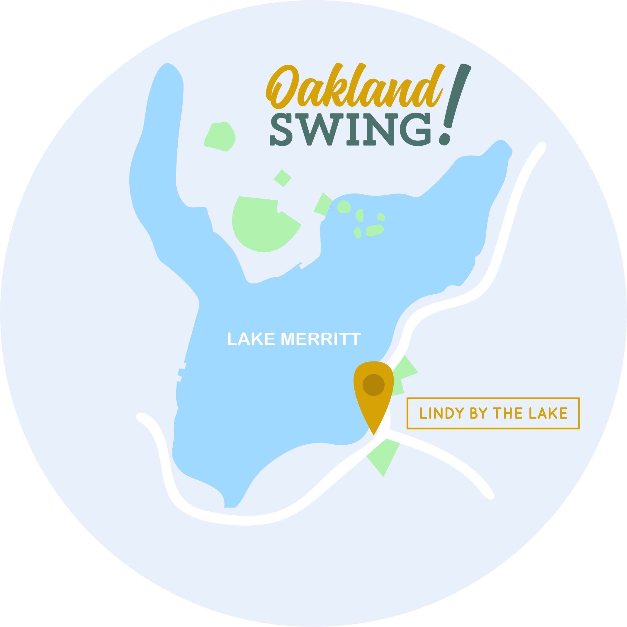 Oakland Swing, Lindy by the Lake, Map, Lake Merritt